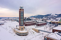 Liberty University's campus was photographed after a snowstorm on December 10, 2018. (Photo by Kevin Manguiob)