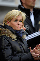 Offenbach, Germany, Friday, April 05 2013: Womans, Germany vs. USA, in the Stadium in Offenbach,   Headcoach Sivia Neid (Germany)...