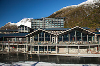 Hermitage Hotel frontage -Aoraki Mt Cook Village NZ.  Aoraki / Mount Cook National Park NZ