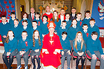 Nagle/Rice NS, Milltown pupils with Bishop Ray Browne at their Confirmation in Milltown on Thursday front row: Milly Mason, Oisin Quirke, Orla Cronin, Patrick O'Sullivan, Saibh O'Brien, Kevin Harmon. Middle row: Adam Clarke, Aaron McSweeney, Jonathan Cronin, Cuan Kelly, Conor Dawson, Caoimhe Burke, Lorcan Daly. Back row: Wayne Molloy, Christopher Flynn, Killian Burke, Amanda Flynn, Eve Mackessy, Caoimhe O'donoghue-Flynn, Jack Griffin, Evan O'Sullivan and Michael O'Sullivan. Back row: Liam Fell Principal,  Deacon Conor Bradley, Fr Gerard O'Leary, and John O'Sullivan
