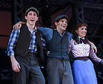 Ben Fankhauser - Jeremy Jordan - Kara Lindsay star in The Newsies - The Newsies Fan Day at The Paper Mill Playhouse on October 2, 2010 in Millburn, New Jersey with current cast members and cast members of the film. It was a day of events to all devoted fans of Newsies - Radio Disney at 4 pm, executive reception for members of the original cast of Newsies (the movie) followed by a talkback, Q&A in the theater - all this followed by the evening performance of Newsies with the Curtain Call, old cast meets new cast and a cast photo of all. (Photo by Sue Coflin/Max Photos)