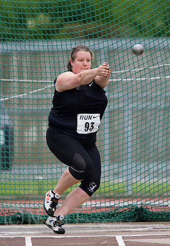17 JUL 2008 - LOUGHBOROUGH, UK - Zoe Derham - Hammer -  Loughborough European Athletics Permit Meeting. (PHOTO (C) NIGEL FARROW)