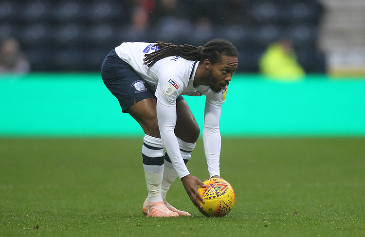 Preston North End's Daniel Johnson<br /> <br /> Photographer Mick Walker/CameraSport<br /> <br /> The EFL Sky Bet Championship - Preston North End v Swansea City - Saturday 12th January 2019 - Deepdale Stadium - Preston<br /> <br /> World Copyright &copy; 2019 CameraSport. All rights reserved. 43 Linden Ave. Countesthorpe. Leicester. England. LE8 5PG - Tel: +44 (0) 116 277 4147 - admin@camerasport.com - www.camerasport.com