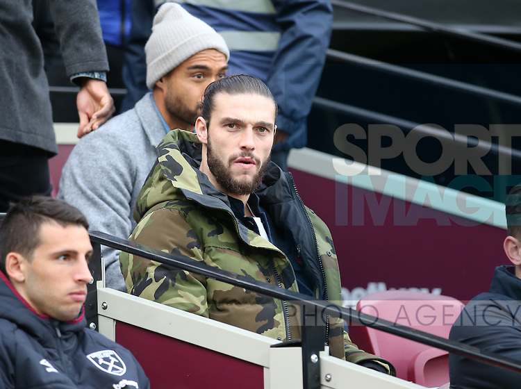 West Ham's Andy Carroll looks on from the bench during the Premier League match at the London Stadium, London. Picture date November 5th, 2016 Pic David Klein/Sportimage