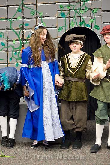 Romeo & Juliet at Hawthorne Elementary, Nathaniel's fifth grade class..Tuesday March 31, 2009 in Salt Lake City.