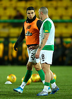 4th March 2020; Almondvale Stadium, Livingston, West Lothian, Scotland; Scottish Premiership Football, Livingston versus Celtic; Scott Brown of Celtic chats to Mohamed Elyounoussi of Celtic