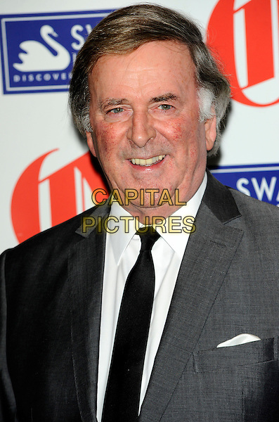 SIR TERRY WOGAN.The Oldie Of The Year Awards at Simpsons On The Strand, London, England..February 10th, 2011.headshot portrait black white grey gray smiling tie .CAP/CJ.©Chris Joseph/Capital Pictures.