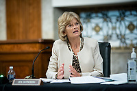 United States Senator Lisa Murkowski (Republican of Alaska), speaks during a Senate Health, Education, Labor and Pensions Committee hearing in Washington, D.C., U.S., on Tuesday, June 30, 2020. Top federal health officials are expected to discuss efforts to get back to work and school during the coronavirus pandemic.<br /> Credit: Al Drago / Pool via CNP /MediaPunch