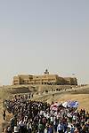 The Greek Orthodox Theophany procession at Qasr al Yahud from the Church of St. John to the Jordan river
