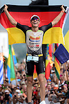 KONA-KAILUA, HI - OCTOBER 11:  Sebastien Kienle competes en route to winning the 2014 IRONMAN Triathlon World Championships presented by GoPro on October 11, 2014 in Kailua-Kona, Hawaii. (Photo by Donald Miralle) *** Local Caption *** Sebastien Kienle