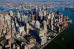 Aerial views of Ground Zero, New York in  2002
