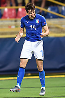 Federico Chiesa of Italy celebrates after scoring the goal of 1-1 <br /> Bologna 16-06-2019 Stadio Renato Dall'Ara <br /> Football UEFA Under 21 Championship Italy 2019<br /> Group Stage - Final Tournament Group A<br /> Italy - Spain <br /> Photo Matteo Gribaudi / Image / Insidefoto
