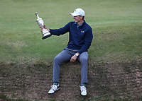 Holding the Claret Jug, Jordan Spieth (USA) is the Champion Golfer winning Sunday's Final Round at The 146th Open played at Royal Birkdale, Southport, England.  23/07/2017. Picture: David Lloyd | Golffile.<br /> <br /> Images must display mandatory copyright credit - (Copyright: David Lloyd | Golffile).