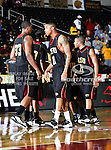 Grambling State Tigers guard/forward Justin Patton (11), Grambling State Tigers forward Chris Britt-Black (33) and Grambling State Tigers guard Rupert Rose (21) in action during the SWAC Tournament game between the Grambling State Tigers and the Mississippi Valley State Delta Devils at the Special Events Center in Garland, Texas. Grambling State defeats Mississippi Valley 65 to 62