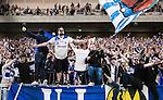 Stockholm 2015-07-27 Fotboll Allsvenskan Hammarby IF - IFK Norrk&ouml;ping :  <br /> Norrk&ouml;pings supportrar jublar efter matchen mellan Hammarby IF och IFK Norrk&ouml;ping <br /> (Foto: Kenta J&ouml;nsson) Nyckelord:  Fotboll Allsvenskan Tele2 Arena Hammarby HIF Bajen IFK Norrk&ouml;ping