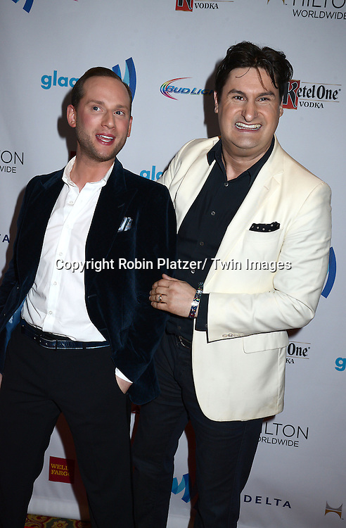 Noah Levy and Rob Shuter attends the 25th Annual GLAAD Media Awards at the Waldorf Astoria Hotel in New York City, NY on May 3, 2014.
