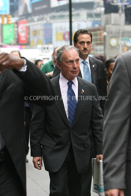 "Mayor Michael Bloomberg speaks to supporters of the ""plaNYC"" initiative which seeks to reduce pollution and congestion by taxing people who enter the city in a car...Photo by and copyright David J. Murphy"