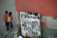 Children and grafitti, Istanbul, Turkey