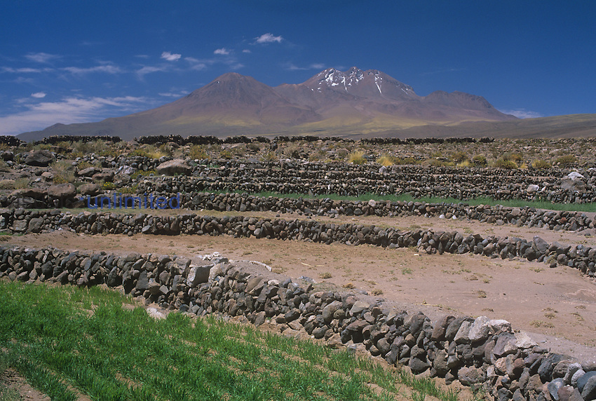 Terraces near Socaire, Atacama Desert, Chile.