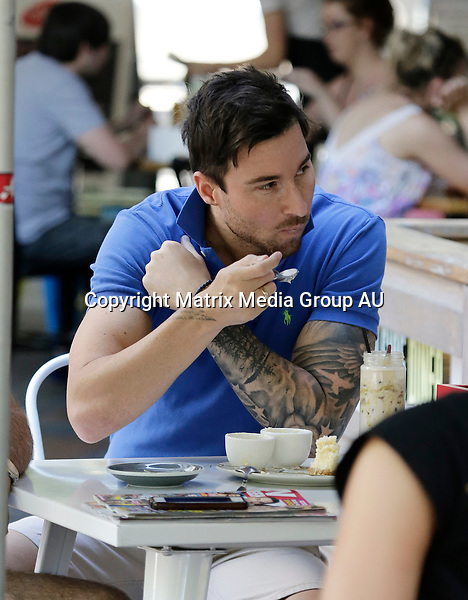 5 OCTOBER 2015 BRISBANE QLD<br /> <br /> EXCLUSIVE PICTURES<br /> <br /> Michael Turnball pictured enjoying some icecream at a cafe nearby his Brisbane apartment.
