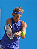June 16th 2017, Nottingham, England;WTA Aegon Nottingham Open Tennis Tournament day 5;  Eye on the ball from Lucie Safarova of Czech Republic