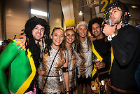Costumed fans on day one of the 2016 HSBC Wellington Sevens at Westpac Stadium, Wellington, New Zealand on Saturday, 30 January 2016. Photo: Dave Lintott / lintottphoto.co.nz