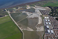 aerial photograph of Hamilton Airfield wetland restoration project, Novato, Marin county, California, 2009