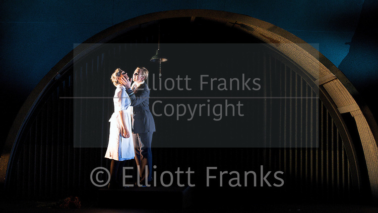 Xerxes<br /> by Handel<br /> translation by Nicholas Hytner<br /> English Touring Opera<br /> at The Royal College of Music, London, Great Britain <br /> 7th October 2011 <br /> <br /> Julia Riley (as Xerxes)<br /> Laura Mitchell (as Romilda)<br /> <br /> Photograph by Elliott Franks