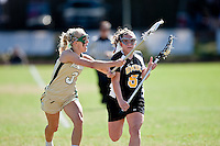 February 6, 2010:    women's Lacrosse action between UMBC Retrievers and Jacksonville University Dolphins in the inaugural game for Jacksonville played at D. B. Milne Field on the campus of Jacksonville University. UMBC defeated Jacksonville 18-2.