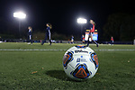WINSTON-SALEM, NC - NOVEMBER 10: Wilson NCAA Tournament soccer ball. The Wake Forest University Demon Deacons hosted the Georgetown University Hoyas on November 10, 2017 at W. Dennie Spry Soccer Stadium in Winston-Salem, NC in an NCAA Division I Women's Soccer Tournament First Round game. Wake Forest advanced 2-1 on penalty kicks after the game ended in a 0-0 tie after overtime.