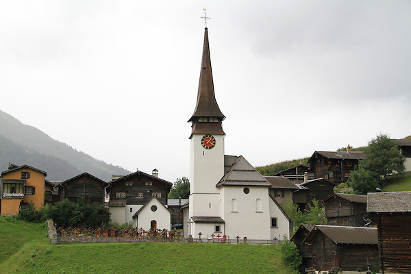 Church in a village near Lauterbrunnen, Switzerland.