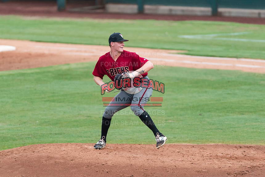 AZL Diamondbacks starting pitcher Harrison Francis (38) delivers a pitch during an Arizona League game against the AZL Angels at Tempe Diablo Stadium on July 16, 2018 in Tempe, Arizona. The AZL Diamondbacks defeated the AZL Angels by a score of 4-3. (Zachary Lucy/Four Seam Images)