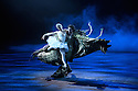 London, UK. 31.05.2016. English National Ballet presents SWAN LAKE in the round at the Royal Albert Hall. Picture shows: Alina Cojocaru (Odette), James Streeter (Rothbart). Photograph © Jane Hobson.