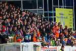 Bollnäs 2013-02-17 Bandy SM-kvartsfinal , Bollnäs GIF - Edsbyns IF :  .Publik fans Bollnäs Flames på Sävstaås IP huvudläktare.(Byline: Foto: Kenta Jönsson) Nyckelord:  supporter fans publik supporters
