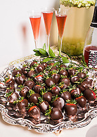 Marijuana chocolate covered strawberries at a cannabis after party in Denver, Colorado, Saturday, July 19, 2014. <br /> <br /> Photo by Matt Nager