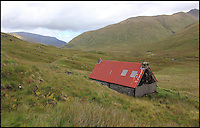 BNPS.co.uk (01202 558833)<br /> Pic: GeoffAllan/BNPS<br /> <br /> Medium sized bothy located at Camban in the North West Highlands.<br /> <br /> Views with rooms. - New book reveals the remote 'bothies' that lie hidden in some of Britain's most spectacular locations.<br /> <br /> Nestled away in the beautiful remote wilderness of Scotland are a network of secluded mountain huts - known as bothies - where walkers can stay the night before heading to pastures new.<br /> <br /> What is so special about these quaint outposts in some of the most idyllic and untouched landscapes north of the border is that they are completely free to use.<br /> <br /> As a result, the location of many bothies has been a closely guarded secret with visitor centres reluctant to advertise their whereabouts for fear they become overcrowded.<br /> <br /> But in his new book, The Scottish Bothy Bible, author and photographer Geoff Allan has listed more than 80 of them in a bid to make them known to a wider audience.