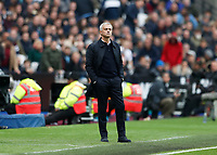 23rd November 2019; London Stadium, London, England; English Premier League Football, West Ham United versus Tottenham Hotspur; Tottenham Hotspur Manager Jose Mourinho looks on from the touchline  - Strictly Editorial Use Only. No use with unauthorized audio, video, data, fixture lists, club/league logos or 'live' services. Online in-match use limited to 120 images, no video emulation. No use in betting, games or single club/league/player publications