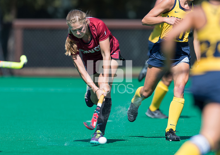 Stanford, Ca - September 2, 2016:  The Stanford Cardinal vs the Michigan Wolverines at Varsity Field Hockey Turf in Stanford, Ca. Final score Stanford 1, Michigan 2.