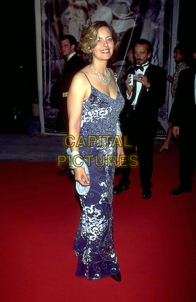 GRETA SCACCHI .Cannes Film Festival 1999.Ref: 8450.jewel encrusted, shoulder wrap,, red carpet, full length, full-length.www.capitalpictures.com.sales@capitalpictures.com.©Capital Pictures