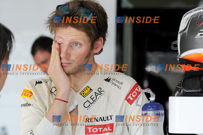 GRANDE PREMIO DO BRASIL AT INTERLAGOS NOVEMBER 23-24-25 2012..LOTUS RENAULT F1 FRENCH DRIVER,ROMAIN GROSJEAN. .San Paolo del Brasile 24/11/2012 .Formula 1 GP Brasile.Foto BERNARD ASSET / PANORAMIC / Insidefoto.ITALY ONLY
