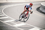 Ian Boswell (USA) Katusha Alpecin from the breakaway group descends during Stage 4 of 10th Tour of Oman 2019, running 131km from Yiti (Al Sifah) to Oman Convention and Exhibition Centre, Oman. 19th February 2019.<br /> Picture: ASO/P. Ballet | Cyclefile<br /> All photos usage must carry mandatory copyright credit (&copy; Cyclefile | ASO/P. Ballet)