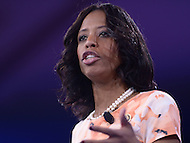 National Harbor, MD - March 3, 2016: U.S. Rep. Mia Love of Utah addresses attendees of the 2016 Conservative Political Action Conference, hosted by the American Conservative Union, at the Gaylord National Hotel in National Harbor, MD, March 3, 2016. Each year, CPAC brings thousands of  people together to hear and interact with conservative movement leaders.   (Photo by Don Baxter/Media Images International)