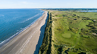 An aerial view of the 13th & 14th in Co Louth Golf Club Co Louth Golf Club, Louth, Ireland. 10/06/2019.<br /> Picture Fran Caffrey / golffile.ie<br /> <br /> <br /> All photo usage must carry mandatory copyright credit (© golffilefile | Fran Caffrey)