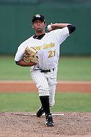 June 13th 2008:  Pitcher Jordan Norberto of the South Bend Silver Hawks, Class-A affiliate of the Arizona Diamondbacks, during a game at Stanley Coveleski Regional Stadium in South Bend, IN.  Photo by:  Mike Janes/Four Seam Images