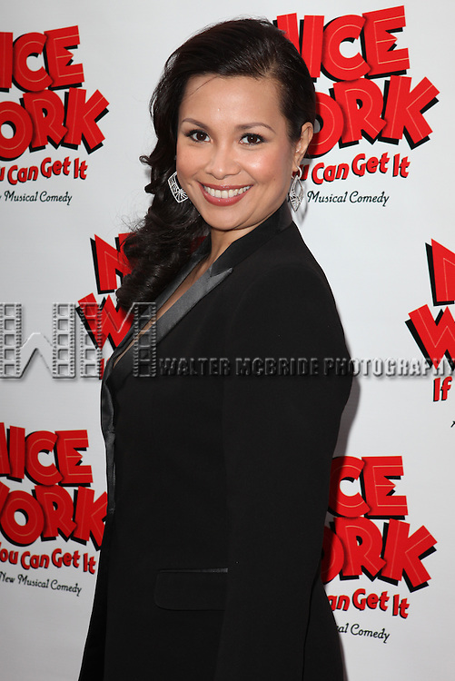Lea Salonga.attending the Broadway Opening Night Performance of 'Nice Work If You Can Get it' at the Imperial Theatre on 4/24/2012 at the Imperial Theatre in New York City. © Walter McBride/WM Photography .