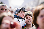 Young Peter Sagan fan at the team presentations in Compiegne before Paris-Roubaix 2019, Compiegne, France. 13th April 2019<br /> Picture: ASO/Pauline Ballet | Cyclefile<br /> All photos usage must carry mandatory copyright credit (&copy; Cyclefile | ASO/Pauline Ballet)