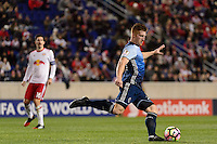 Harrison, NJ - Wednesday Feb. 22, 2017: Tim Parker during a Scotiabank CONCACAF Champions League quarterfinal match between the New York Red Bulls and the Vancouver Whitecaps FC at Red Bull Arena.