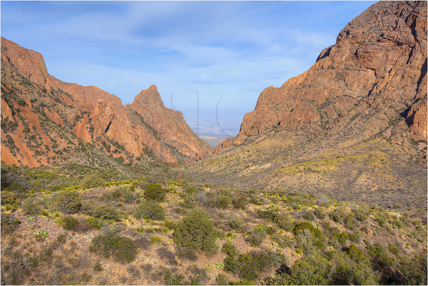 The Window View is an iconic location in Big Bend National Park. This Texas landscape image was taken in the morning of late March.