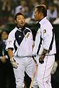 (L to R) <br /> Ryosuke Kikuchi, <br /> Sho Nakata (JPN), <br /> NOVEMBER 14, 2014 - Baseball : <br /> 2014 All Star Series Game 2 <br /> between Japan and MLB All Stars <br /> at Tokyo Dome in Tokyo, Japan. <br /> (Photo by YUTAKA/AFLO SPORT)[1040]