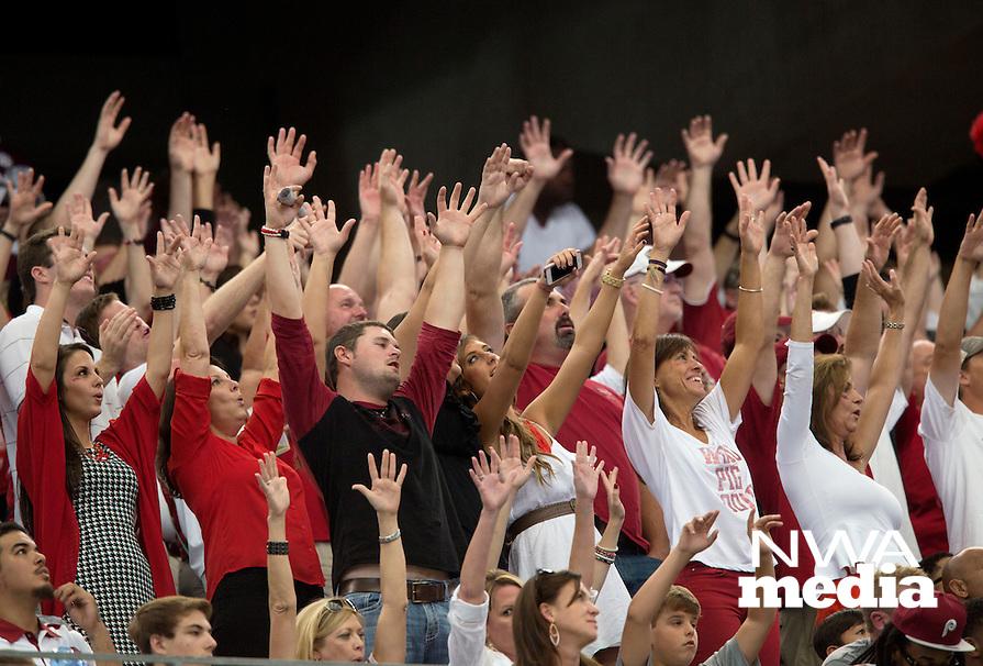 HAWGS ILLUSTRATED JASON IVESTER --09/27/2014--<br /> Arkansas vs Texas A&amp;M football<br /> AT&amp;T Stadium